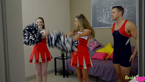 Stepbrother will always help stepsis with cheer practice