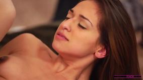 Teen Latina Sara Luvv and stepmom practice threesome