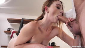 Young woman with nice titties likes impudent pussy-nailing