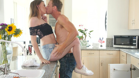 Athletic plumber is blessed with young girl's pussy
