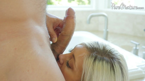 Stunning blonde cheats on hubby with excited stepson