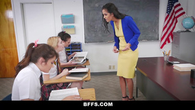 Impudent college girls get revenge on Latina teacher
