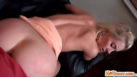 Cutesy young blondie getting fucked by a hung therapist
