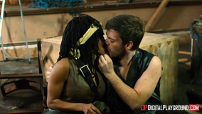 Walking Dead porn parody featuring Michonne and Daryl