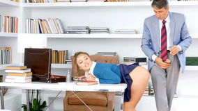 Slutty schoolgirl punished by her kinky principal