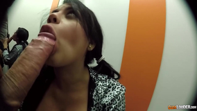 Quick dressing room fuck with a busty amateur hottie