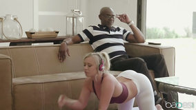 Big black cock fucking a perverted young whore