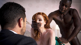 Young ginger fucked by a BBC while husband watches
