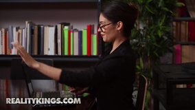 Uncharacteristically kinky librarian gets fucked
